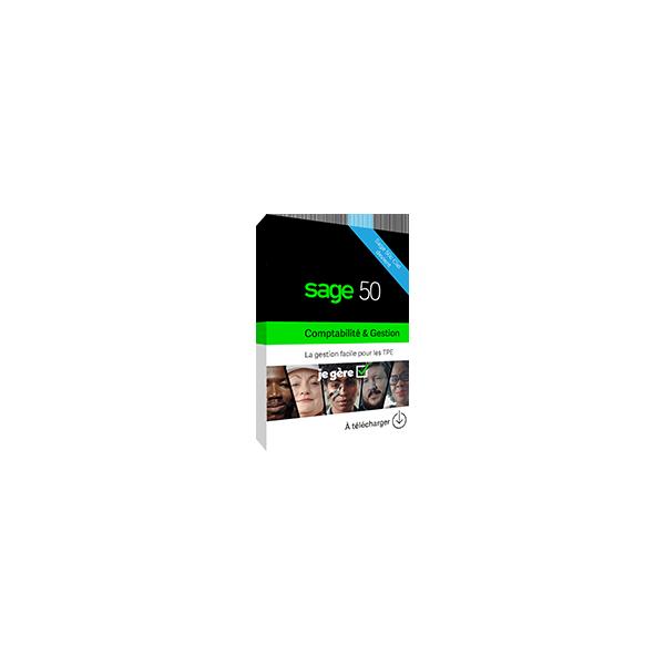 Sage 50 Ciel Compta + Gestion - Standard - Abonnement annuel - Loi Anti-Fraude - Compatible uniquement Windows 8 et 10